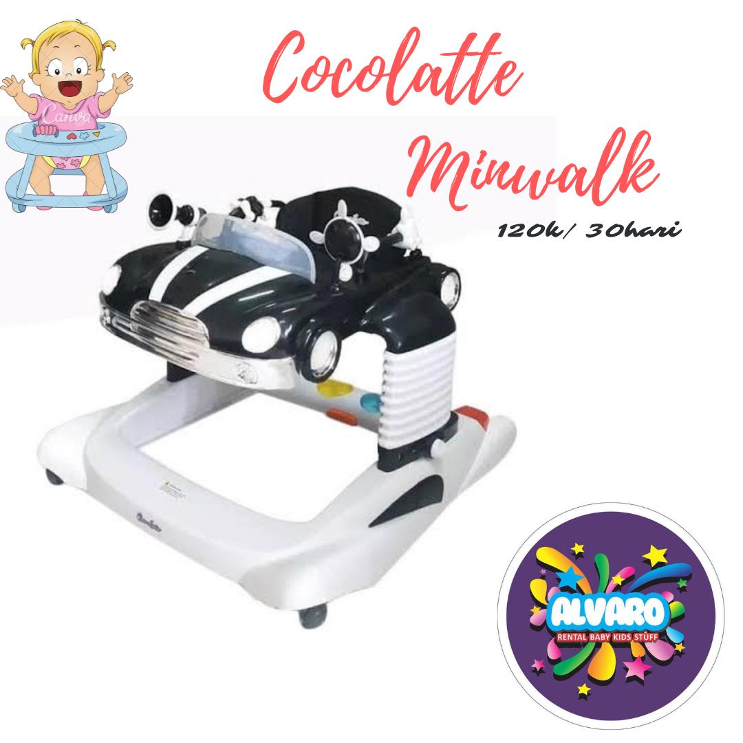 COCOLATTE CL1111 MINWALK BABY WALKER BLACK