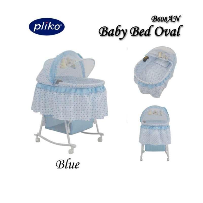 PLIKO BABY BED BIRU OVAL