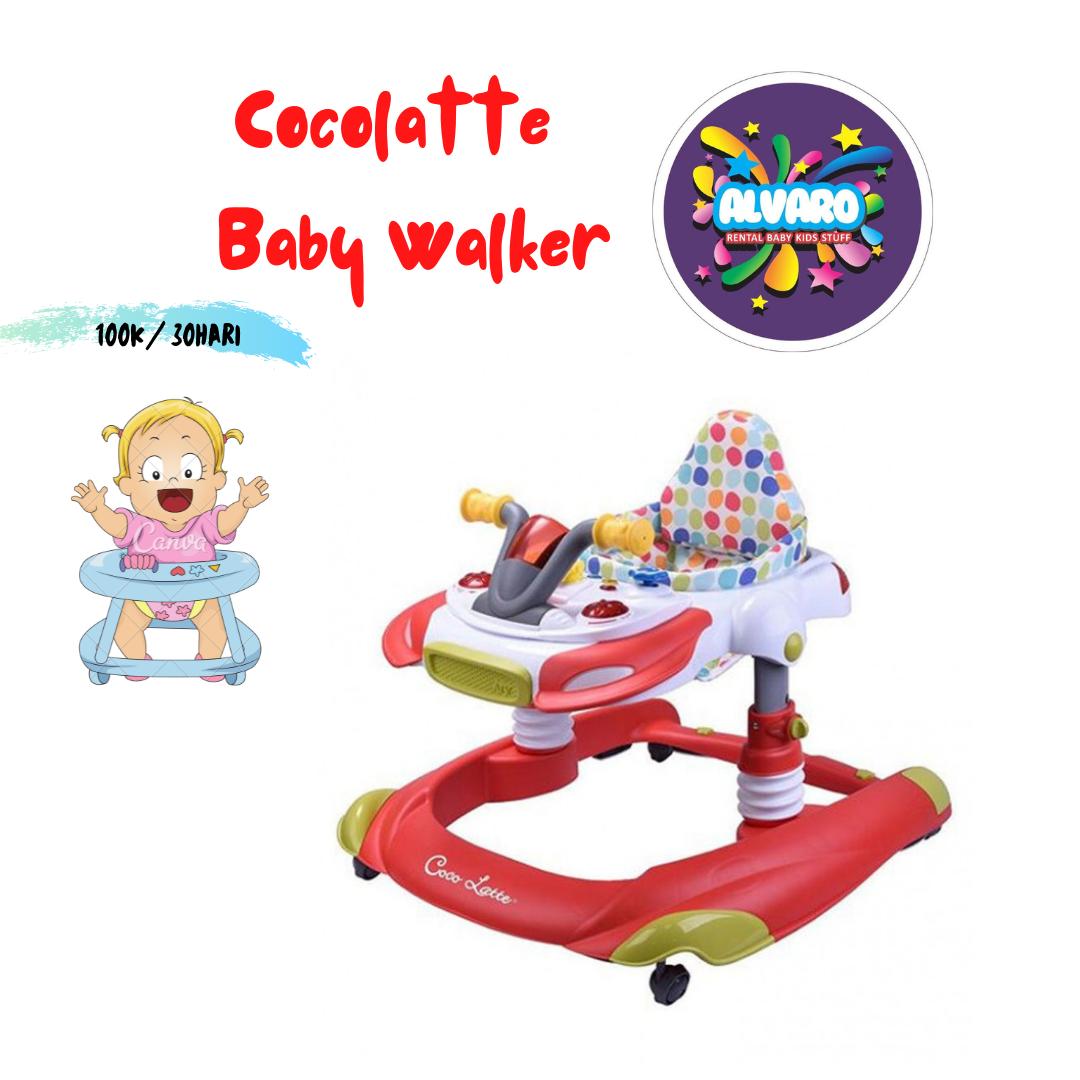 COCOLATTE 1104 BABY WALKER - RED [2 IN 1]